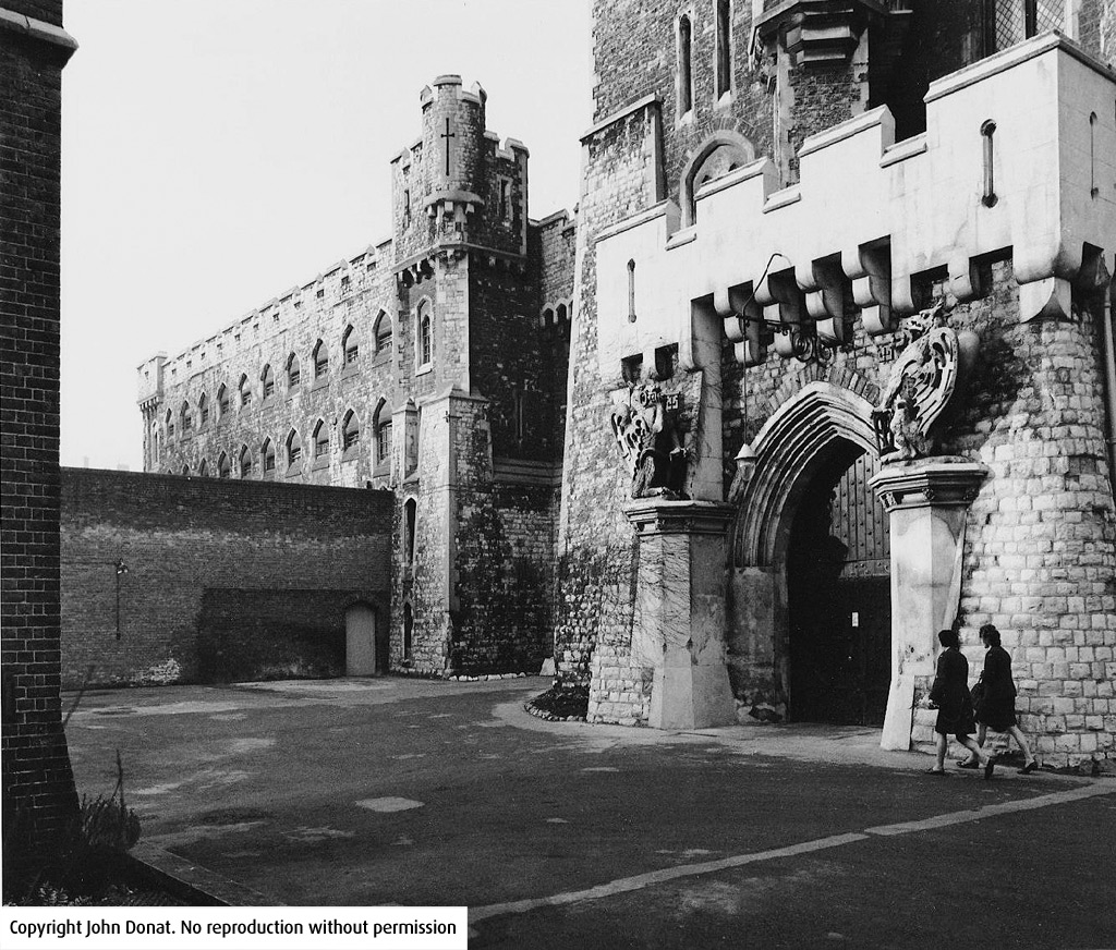 Photo of the old gates of Holloway Prison with the Griffins on the gates
