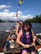 Rowing the Thames in the John Disley Still-Water Skiff.