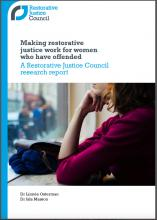 Image of the RJC Report on use of RJ with women who offend