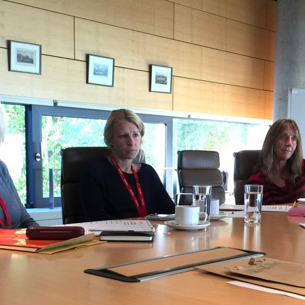 l-r: Fellows Sandra Barefoot and Ruth Chitty and Dr Caroline Lanskey