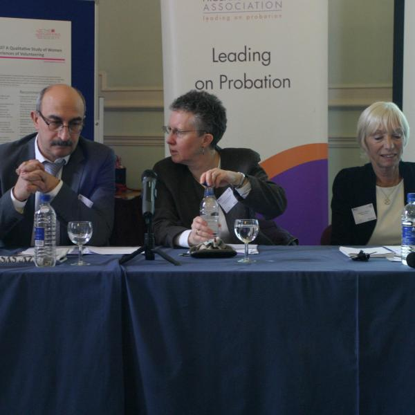 l-r - Savas Hadjpavlou, CEO Probation Institute, Prof Carol Hedderman, Linda Pizani Williams, Chair The Griffins Society