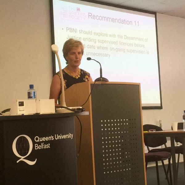 Cheryl Lamont, Director PBNI giving the response to Jean's research findings